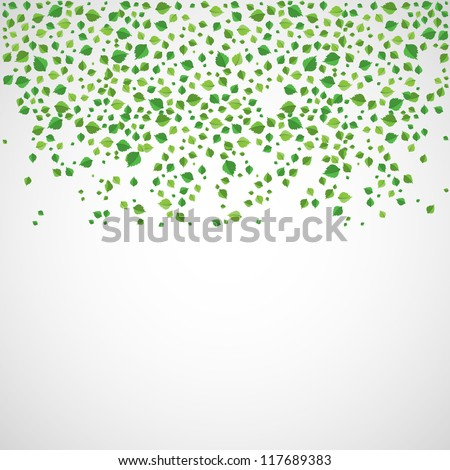 Abstract leaves background.vector