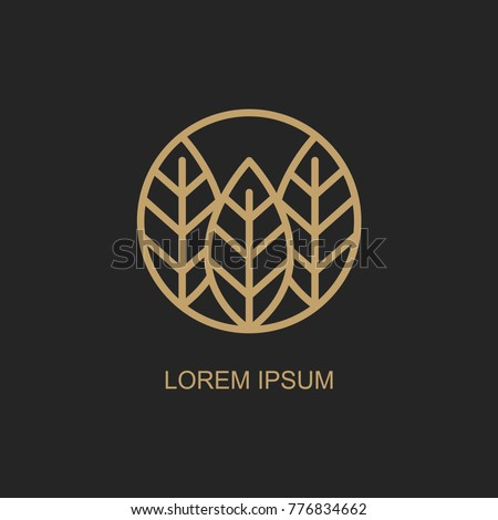 abstract leaves logo design templates. vector emblem