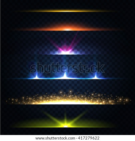 abstract lens flares collection