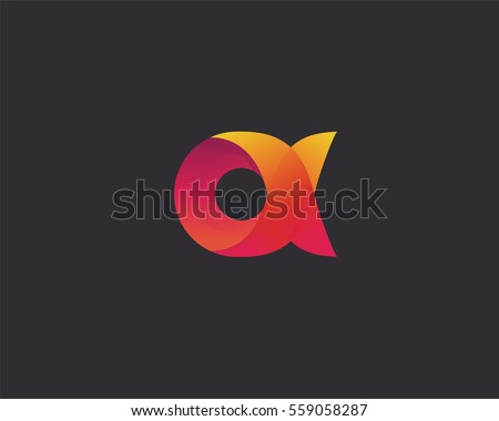 Abstract letter A, Alpha logo design template. Colorful foundation creative logotype sign. Universal spiral vector icon.