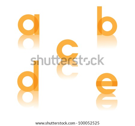 Abstract Letter A B C D E Symbol Icon Set EPS 8 vector, grouped for easy editing. No open shapes or paths.