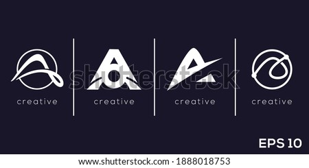Abstract Letter A for general business logotype. Creative vector based icon template. Photo stock ©