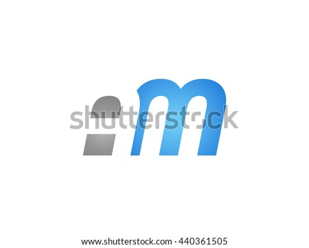 abstract letter am lovely logo
