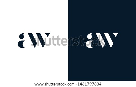 Abstract letter AW logo. This logo icon incorporate with abstract shape in the creative way. It look like letter AW. It will be suitable for Which company name start AW.