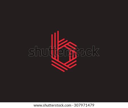 abstract letter b logo design template line vector symbol. Black Bedroom Furniture Sets. Home Design Ideas