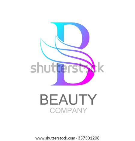 Abstract letter b logo design template with beauty for Hair salon companies
