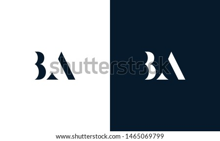 Abstract letter BA logo. This logo icon incorporate with abstract shape in the creative way. It look like letter BA. It will be suitable for Which company name start BA. Zdjęcia stock ©