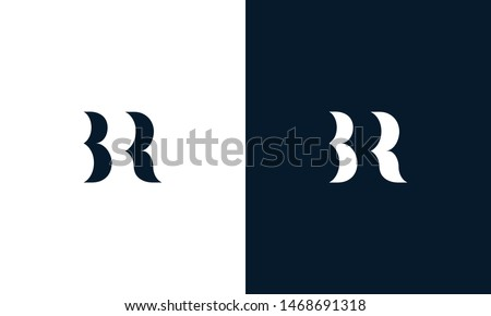 Abstract letter BR logo. This logo icon incorporate with abstract shape in the creative way. It look like letter BR. It will be suitable for Which company name start BR. Stock fotó ©