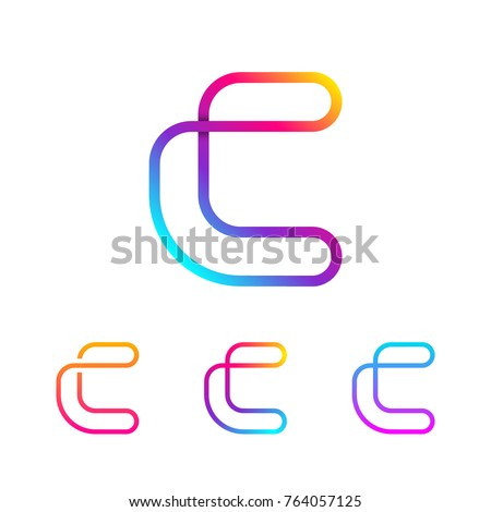abstract letter c line monogram