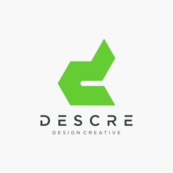 abstract letter D logo design . The logo can be used for business construction, sport, consulting, financial companies. Vector design template elements for your application or corporate identity.