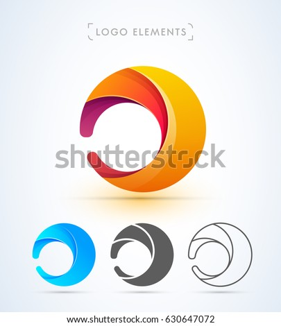 abstract letter d or o logo