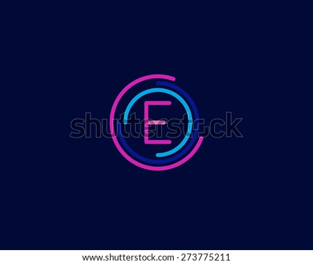 colorful abstract logo with letter e - download free vector art