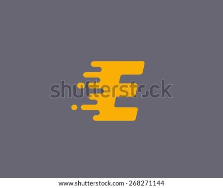 abstract letter e logo design