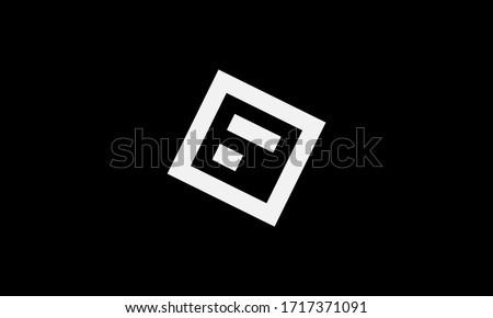 Abstract letter F logo design. Creative,Premium Minimal emblem design template. Graphic Alphabet Symbol for Corporate Business Identity.  Foto stock ©