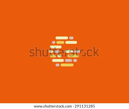 Abstract letter G logo design template.  Dynamic, code vector unusual font. Universal fast moving dots, atoms, blocks, color symbol.