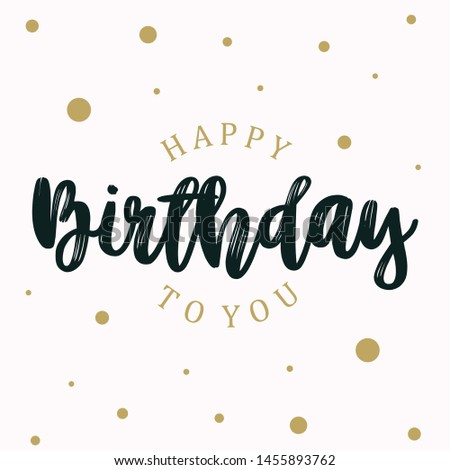Abstract letter HAPPY BIRTHDAY on the white background. Editable vector template for element. Vector illustration EPS.8 EPS.10