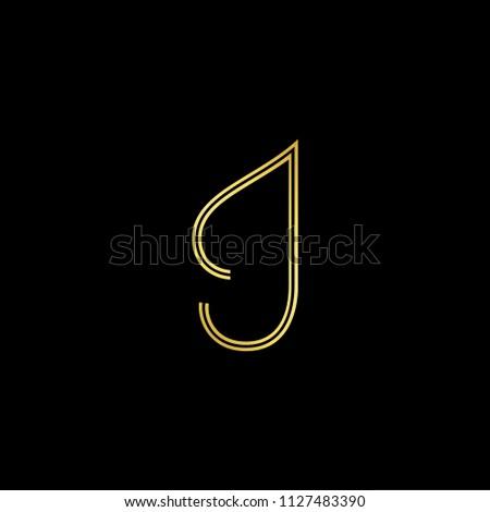 abstract letter i ii minimal