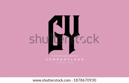 Abstract Letter Initial GY,YG Vector Logo Design Template Stock fotó ©