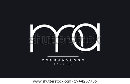 Abstract Letter Initial MA AM M A Vector Logo Design Template Stok fotoğraf ©