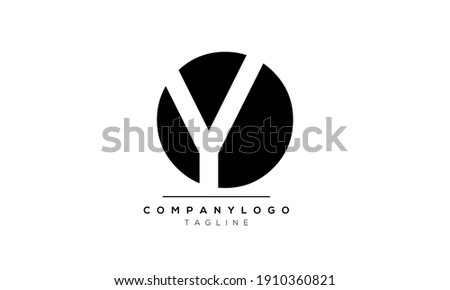 Abstract Letter Initial Oy or YO or and Y Vector Logo Design Template Stok fotoğraf ©