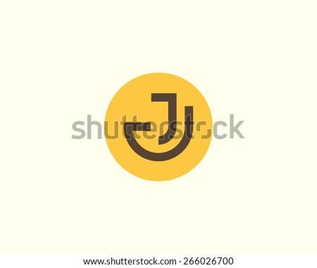 abstract letter j logo design