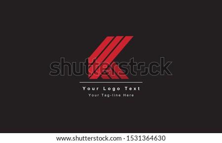Abstract letter K logo design. Creative,Premium Minimal emblem design template. Graphic Alphabet Symbol for Corporate Business Identity. Initial KK vector element Stok fotoğraf ©
