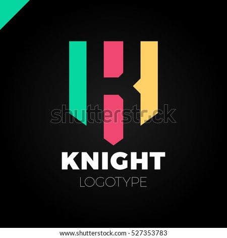 abstract letter k shield logo