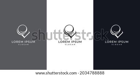 Abstract letter LO, OL letter logo design, lo or ol vector logo design Foto stock ©