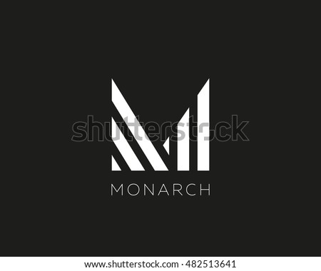 abstract letter m logo design