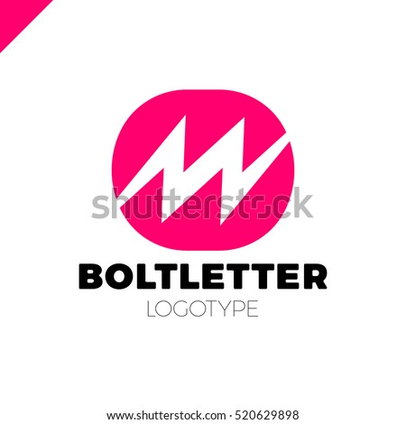 Abstract letter M logo. Dynamic, fast speed, moving energy icon. Flash vector logotype.