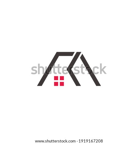 abstract letter mk home window logo vector Stock fotó ©