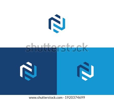 Abstract letter N logotype. Modern logo idea sign. Universal emblem vector icon Stock fotó ©