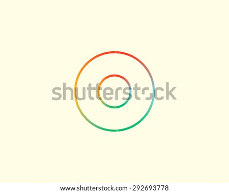 round logo template