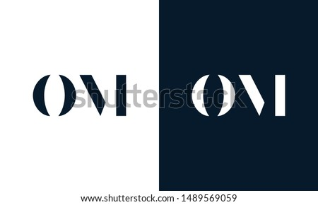 Abstract letter OM logo. This logo icon incorporate with abstract shape in the creative way. Foto stock ©