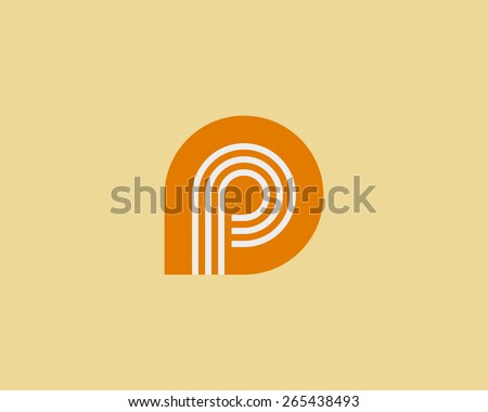 Colorful Abstract Logo With Letter P Download Free Vector Art