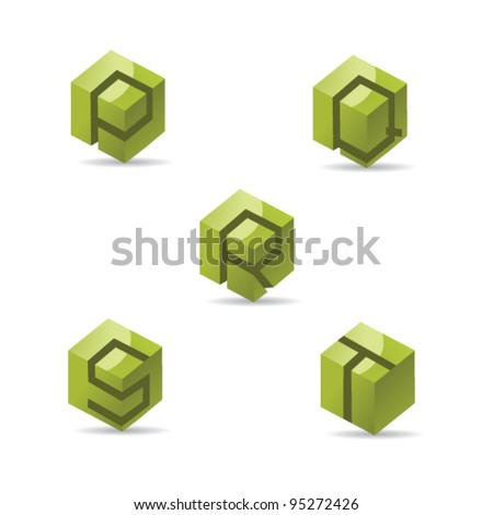 abstract letter p q r s t logo