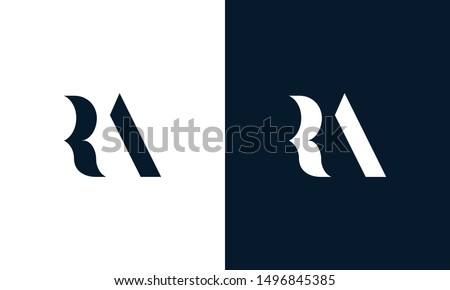 Abstract letter RA logo. This logo icon incorporate with abstract shape in the creative way. Its look like letter R and A. Stock fotó ©