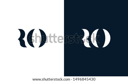 Abstract letter RO logo. This logo icon incorporate with abstract shape in the creative way. Its look like letter R and E. Foto stock ©