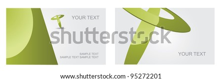Abstract Letter T Logo Symbol Icon Business Card Set EPS 8 vector, grouped for easy editing. No open shapes or paths.