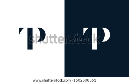Abstract letter TP logo. This logo icon incorporate with abstract shape in the creative way. It look like letter T and P. Stock fotó ©