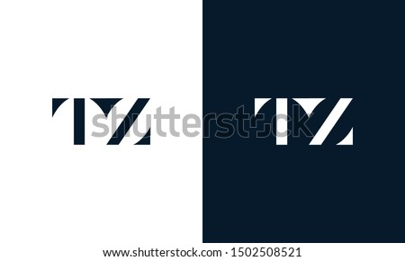 Abstract letter TZ logo. This logo icon incorporate with abstract shape in the creative way. It look like letter T and Z. Stock fotó ©