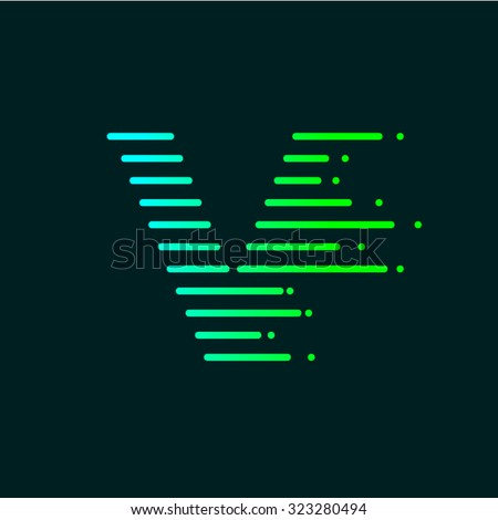 abstract letter v logo design