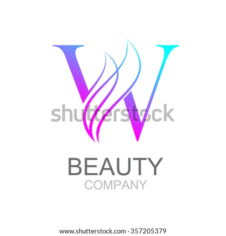 Abstract letter W logo design template with beauty industry and fashion logo.cosmetics business, natural,spa salons. yoga, medicine companies and clinics