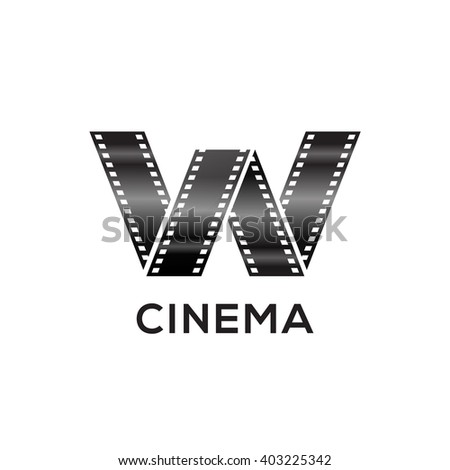 Abstract letter W logo for negative videotape film production Zdjęcia stock ©