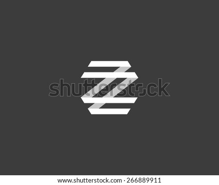 abstract letter z logo design