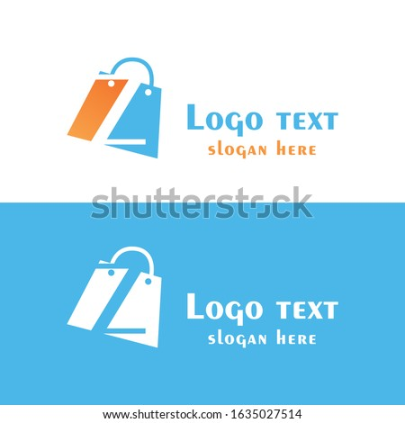 Abstract letter Z with bubbles on shopping bag. Abstract shopping logo. Online shop logo. Zdjęcia stock ©