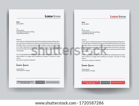 Abstract Letterhead Design Modern Business Letterhead Design Template - vector illustration