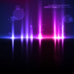 Abstract light background, futuristic vector illustration eps10