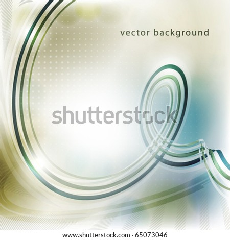 Abstract light background with curve. Vector