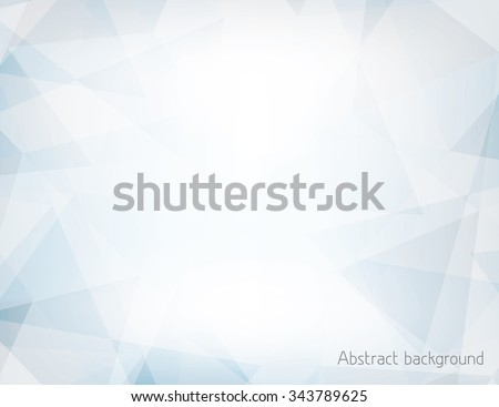 Abstract light blue and gray horizontal background textured by chaotic triangles. Geometrical vector pattern. CMYK colors